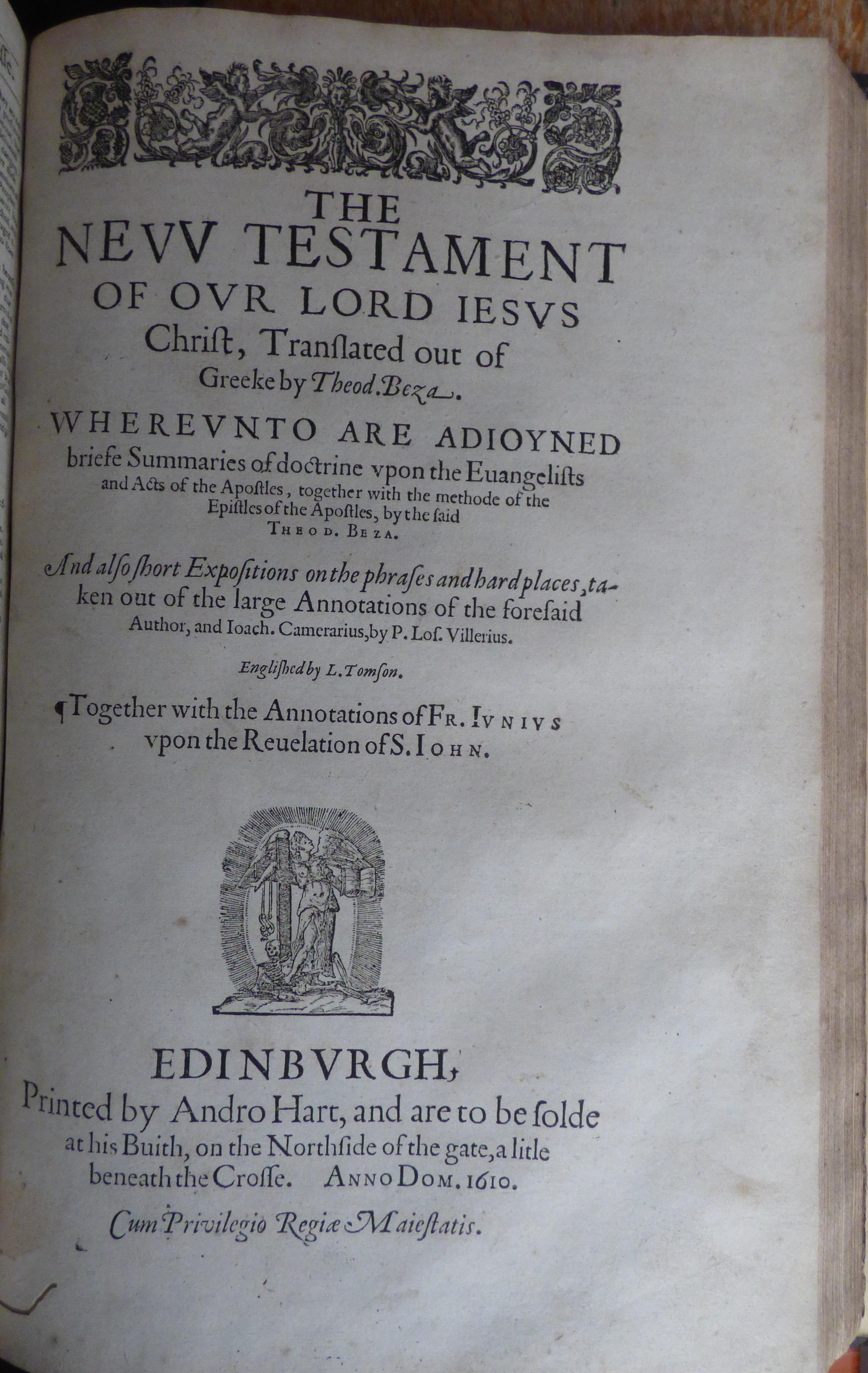 B_Andro Hart 1610 Bible