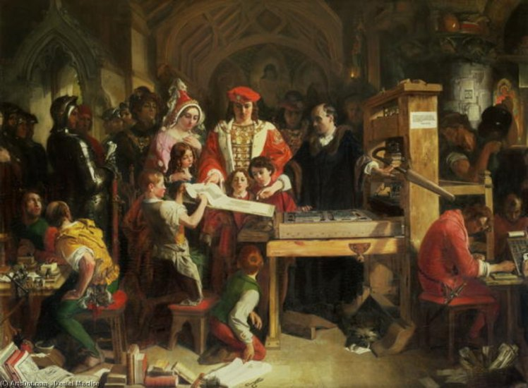 Daniel_maclise-caxton_s_printing_press