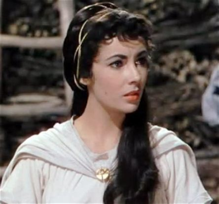 Rebecca played by Elizabeth Taylor on the film Ivanhoe, 1952