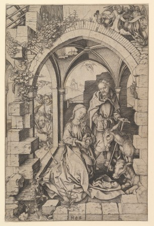 "Martin Schongauer, ""Nativity"""