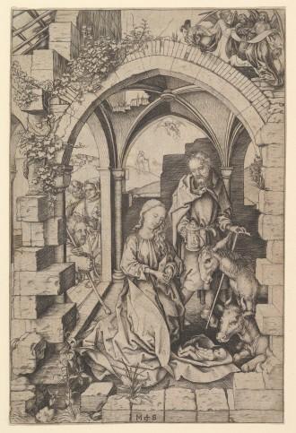"Martin Schongauer, ""Nativity"""