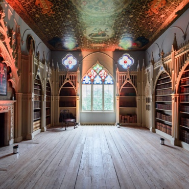 Strawberry-hill-house library