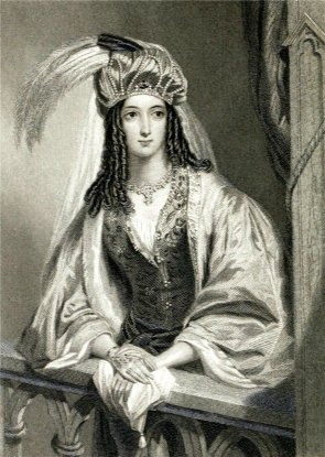 Rebecca illustrtated in Heath's Book of Beauty, 1852