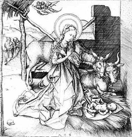"""Martin Schiongauer, """"Little Nativity"""""""