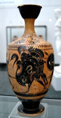 Black figure lekythos
