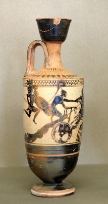 White ground lekythos